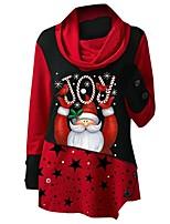 cheap -Women's Sports Dress Short Mini Dress Blue Gray Green Red Long Sleeve Print Letter Print Fall Winter Turtleneck Casual Christmas 2021 S M L XL XXL 3XL