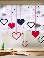 cheap -Stars Love Matte Window Film Cling Vinyl Thermal-Insulation Privacy Protection Home Decor For Window Cabinet Door Sticker Window Sticker - 60*58CM