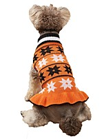 cheap -Dog Cat Sweater Dress Dog clothes Stars Elegant Euramerican Weekend Homewear Winter Dog Clothes Puppy Clothes Dog Outfits Warm Red Blue Gray Costume for Girl and Boy Dog Knitted XS S M L XL