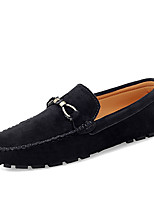 cheap -Men's Loafers & Slip-Ons Comfort Loafers Crib Shoes Drive Shoes Casual Daily Suede Breathable Non-slipping Wear Proof Khaki Green Black Fall Spring