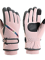 cheap -Ski Gloves Snow Gloves for Women Touchscreen Thermal Warm Reflective PU Leather Full Finger Gloves Snowsports for Cold Weather Winter Skiing Snowboarding