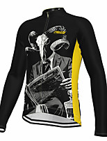 cheap -21Grams Men's Long Sleeve Cycling Jersey Spandex Polyester Black Retro Funny Bike Top Mountain Bike MTB Road Bike Cycling Quick Dry Moisture Wicking Breathable Sports Clothing Apparel / Athleisure