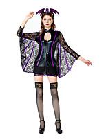 cheap -Witch Queen Daenerys Targaryen Cosplay Costume Adults' Women's Halloween Halloween Halloween Festival / Holiday Terylene Black Women's Easy Carnival Costumes Solid Color / Skirt / Headwear