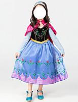 cheap -Princess Dress Kid's Girls' Halloween Halloween Halloween Children's Day Masquerade Festival / Holiday Terylene Blue Easy Carnival Costumes Printing / Cloak