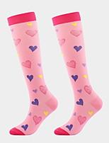 cheap -Comfort Sport Women's Socks Floral Heart Stockings Socks Medium Sport Black 4 1 Pair / Sport Socks / Athletic Socks
