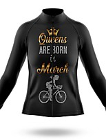 cheap -21Grams Women's Long Sleeve Cycling Jersey Spandex Polyester Black Funny Bike Top Mountain Bike MTB Road Bike Cycling Quick Dry Moisture Wicking Breathable Sports Clothing Apparel / Stretchy