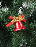 cheap -Christmas Decorations Christmas Flat Bells Christmas Tree Decorations 3.5cm Christmas Bells Pendant