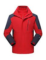 cheap -Men's Hiking 3-in-1 Jackets Ski Jacket Hiking Fleece Jacket Winter Outdoor Thermal Warm Waterproof Windproof Fleece Lining Outerwear Windbreaker Trench Coat Skiing Fishing Climbing Men-Army Green