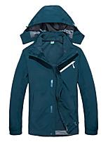 cheap -Men's Hiking 3-in-1 Jackets Ski Jacket Hiking Fleece Jacket Winter Outdoor Thermal Warm Windproof Quick Dry Lightweight Outerwear Winter Jacket Trench Coat Skiing Ski / Snowboard Fishing Black-male