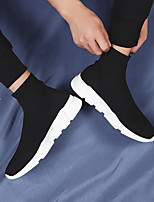 cheap -Men's Loafers & Slip-Ons Crochet Casual Vintage British Daily Outdoor Mesh Breathable Non-slipping Wear Proof Black and White Black Spring Summer