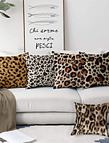 cheap -Animal Print Leopard Cow Double Side Cushion Cover 5PC Soft Decorative Square Throw Pillow Cover Cushion Case Pillowcase for Bedroom Livingroom Superior Quality Machine Washable Indoor Cushion for Sofa Couch Bed Chair
