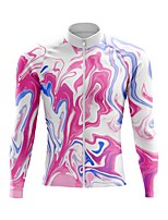 cheap -21Grams Men's Long Sleeve Cycling Jersey Spandex Polyester Pink Funny Bike Top Mountain Bike MTB Road Bike Cycling Quick Dry Moisture Wicking Breathable Sports Clothing Apparel / Stretchy