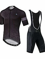 cheap -men's cycling suits, short sleeve cycling jersey shirt + 3d padded riding quick dry, breathable, sweat-wicking, cycling clothing set for outdoor sport cycling biking