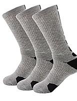 cheap -crew length socks cycling socks sport athletic cycling socks - grey - one size