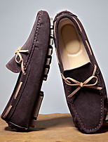 cheap -Men's Loafers & Slip-Ons Sporty Classic Daily Suede Breathable Non-slipping Wear Proof Black Brown Fall Spring / Square Toe