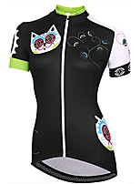 cheap -21Grams Women's Short Sleeve Cycling Jersey Summer Spandex Polyester Black Cat Funny Bike Top Mountain Bike MTB Road Bike Cycling Quick Dry Moisture Wicking Breathable Sports Clothing Apparel
