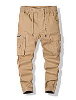 cheap -Men's Work Pants Hiking Cargo Pants Hiking Pants Trousers Outdoor Ripstop Breathable Multi Pockets Sweat wicking Pants / Trousers Bottoms khaki Black Army Green Dark Blue Fishing Climbing Running L
