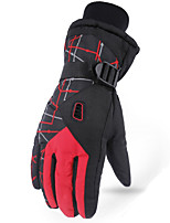 cheap -Ski Gloves Snow Gloves for Women Men Thermal Warm Waterproof Windproof PU Leather Full Finger Gloves Snowsports for Cold Weather Winter Skiing Snowboarding