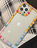 cheap -Phone Case For Apple Back Cover iPhone 12 Pro Max 11 SE 2020 X XR XS Max 8 7 Shockproof Dustproof Graphic Transparent TPU