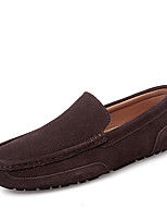 cheap -Men's Loafers & Slip-Ons Comfort Loafers Crib Shoes Drive Shoes Casual Daily Suede Breathable Non-slipping Wear Proof Black Dark Blue Coffee Fall Spring