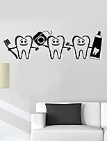 cheap -wall stickers healthy teeth bathroom dental care dentist vinyl wall decal home decor art stickers mural removable 58cm17cm