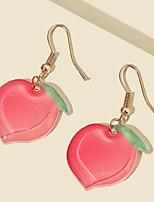 cheap -Women's Drop Earrings Earrings Classic Birthday Fruit Stylish Cartoon Baroque Korean Sweet Earrings Jewelry Blushing Pink For Wedding Gift Date Vacation Promise 1 Pair