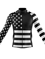 cheap -21Grams Men's Long Sleeve Cycling Jersey Spandex Polyester Red Blue White Funny Bike Top Mountain Bike MTB Road Bike Cycling Quick Dry Moisture Wicking Breathable Sports Clothing Apparel / Stretchy