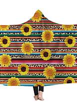 cheap -Hooded Blanket Magic Hat Blanket Home Blanket Wearing Hat Blanket Children's Blanket Printed Blanket Thicken Blanket Sunflower Series