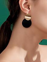 cheap -Women's Clear Cubic Zirconia Hoop Earrings Geometrical Happy Stylish Simple Earrings Jewelry Black For Daily Prom