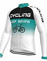 cheap -21Grams Men's Long Sleeve Cycling Jersey Spandex Polyester White Gradient Funny Bike Top Mountain Bike MTB Road Bike Cycling Quick Dry Moisture Wicking Breathable Sports Clothing Apparel / Athleisure