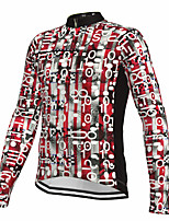 cheap -21Grams Men's Long Sleeve Cycling Jersey Spandex Polyester Red Funny Bike Top Mountain Bike MTB Road Bike Cycling Quick Dry Moisture Wicking Breathable Sports Clothing Apparel / Athleisure