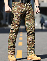 cheap -Men's Work Pants Hiking Cargo Pants Tactical Pants Outdoor Ripstop Breathable Multi Pockets Sweat wicking Pants / Trousers Bottoms CP camouflage Grey Green Brown Fishing Climbing Running S M L XL XXL