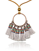 cheap -Necklace Long Necklace Women's Simple Fashion Boho Cool Pink Gray White Black Beige 82 cm Necklace Jewelry 1pc for Street Daily Carnival