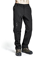 cheap -Men's Fleece Lined Pants Hiking Pants Trousers Softshell Pants Winter Outdoor Waterproof Windproof Breathable Sweat wicking Pants / Trousers Bottoms 3102 Deep Army 3102 dark gray 3102 black Fishing