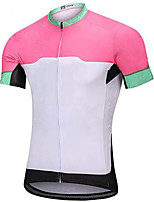 cheap -21Grams Women's Short Sleeve Cycling Jersey Summer Spandex White Color Block Bike Top Mountain Bike MTB Road Bike Cycling Quick Dry Moisture Wicking Sports Clothing Apparel / Stretchy / Athleisure