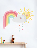 cheap -Cartoon Sky Wall Stickers Bedroom Kids Room Kindergarten Removable Pre-pasted PVC Home Decoration Wall Decal 1pc