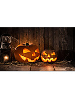 cheap -Halloween Wall Art Canvas Prints Painting Artwork Picture Pumpkin Home Decoration Decor Stretched Frame Ready to Hang