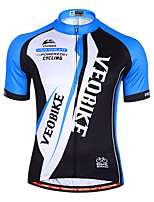 cheap -Men's Short Sleeve Cycling Jersey Summer Spandex Black / Red Blue / Black Color Block Bike Top Mountain Bike MTB Road Bike Cycling Quick Dry Sports Clothing Apparel / Athleisure