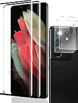 """cheap -galaxy s21 ultra tempered glass screen protector + camera lens protectors,easy to install, bubble free,fingerprint id compatible, case friendly compatible with samsung s21 ultra(6.8"""") [2 + 2 pack ]"""