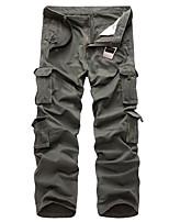 cheap -Men's Work Pants Hiking Cargo Pants Track Pants Winter Outdoor Windproof Ripstop Breathable Multi Pockets Pants / Trousers Bottoms ArmyGreen Grey khaki Black Fishing Climbing Running 28 29 30 31 32
