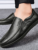 cheap -Men's Loafers & Slip-Ons Formal Shoes Business Vintage Classic Daily Party & Evening Cowhide Breathable Non-slipping Wear Proof Light Red Black Brown Spring Summer
