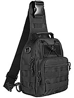 cheap -tactical sling shoulder chest bag,  military molle waterproof multi-functional crossbody shoulder backpack handbag for hiking walking bike riding camping outdoor sports