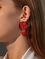 cheap -Women's Earrings Classic Stylish Classic Feather Earrings Jewelry Black / Red For Street