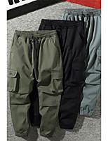 cheap -Men's Work Pants Hiking Cargo Pants Track Pants Drawstring Military Winter Summer Outdoor Windproof Ripstop Breathable Multi Pockets Elastic Waist Bottoms Dark Grey Green Black Camping / Hiking