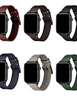 cheap -Smart Watch Band for Apple iWatch Classic Buckle Business Band Genuine Leather Replacement  Wrist Strap for Apple Watch Series SE / 6/5/4/3/2/1