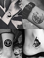 cheap -25 Pcs Black and White Tiger Tattoo Stickers Waterproof Long-Lasting Fake Tattoo Small Fresh Couple Cute Temporary Tattoo Stickers