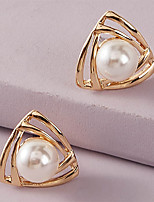 cheap -Women's Earrings Classic Stylish Elegant Romantic Classic Modern Earrings Jewelry Gold For Wedding New Baby Gift Prom Date 1 Pair