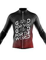 cheap -21Grams Men's Long Sleeve Cycling Jersey Spandex Black Stripes Gradient Bike Top Mountain Bike MTB Road Bike Cycling Quick Dry Moisture Wicking Sports Clothing Apparel / Athleisure