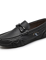 cheap -Men's Loafers & Slip-Ons Moccasin Vintage British Daily Cowhide Shock Absorbing Wear Proof Green Black Brown Fall Spring