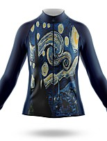 cheap -21Grams Women's Long Sleeve Cycling Jersey Spandex Polyester Dark Blue Funny Bike Top Mountain Bike MTB Road Bike Cycling Quick Dry Moisture Wicking Breathable Sports Clothing Apparel / Stretchy